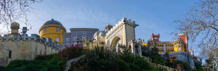 Panorama of Pena Palace in Sintra Portugal Fototapete