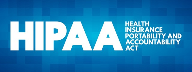 HIPAA - Health Insurance Portability and Accountability Act acronym, concept background
