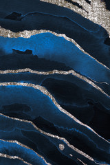 Blue and silver marbled texture