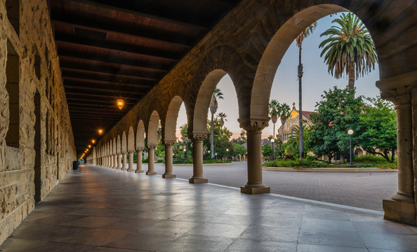 The beautiful campus of Stanford University in Palo Alto California