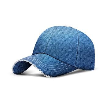 Denim baseball cap with shadow, uniform cap hat, realistic 3d style