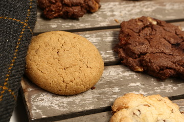 delicious sweet biscuits and cookies