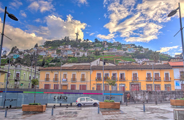 Wall Mural - Historical center of Quito, Ecuador