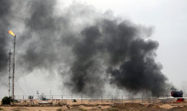 General view of al-Zubair oil field near Basra