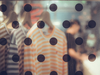 Full Frame Shot Of Window With Polka Dots
