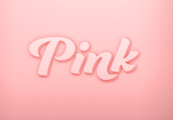 Pink Creamy 3D Text Effect Mockup