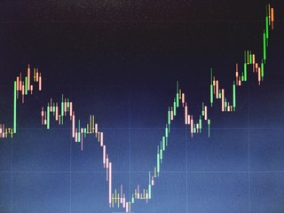 Close-up Of Forex Chart