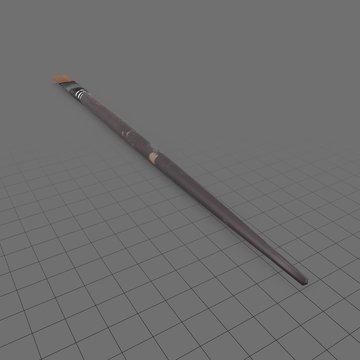 Flat paintbrush