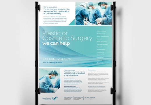 Hospital Medical Poster Banner Layout with Surgical Theme