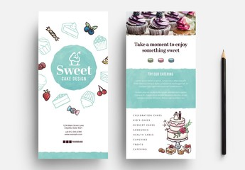 Cupcake Flyer Layout for Bakers