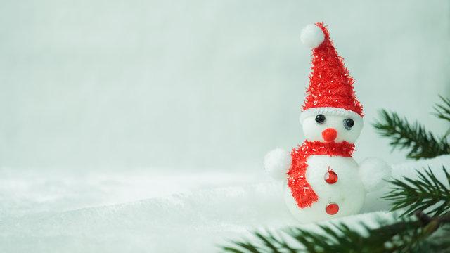 Snowman On Artificial Snow