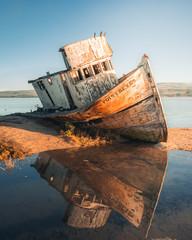 Photo on textile frame Ship Point Reyes Shipwreck