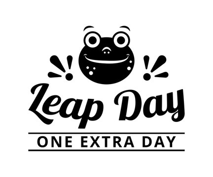 Leap day, one extra day - text word Hand drawn Lettering card. Modern brush calligraphy t-shirt Vector illustration.inspirational design for posters, flyers, , invitations, banners background.