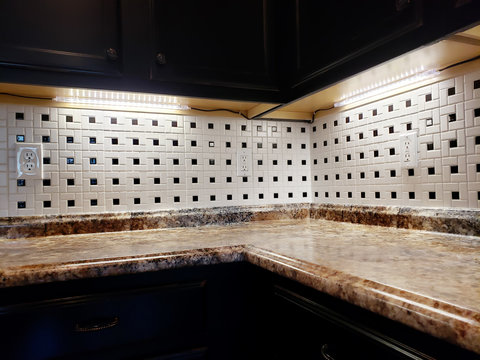 Counter Top Lights in Kitchen