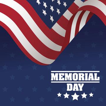 Memorial Day celebration with usa flag