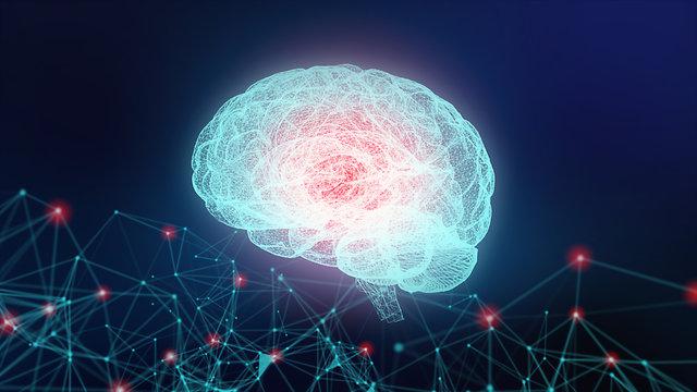 Digital Composite Image Of Brain