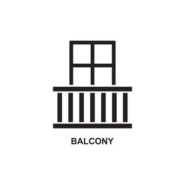 BALCONY ICON , WINDOW HOME ICON