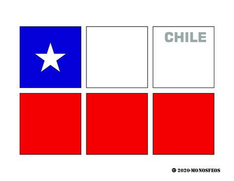 bandera chile a cuadros