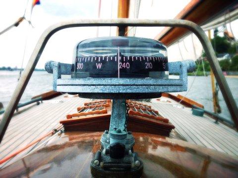 Close Up Image Of A Compass