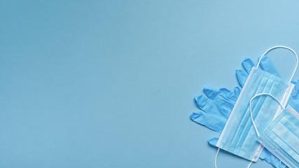 Obraz Maseczka chirurgiczna ochronna -zabezpieczenie przed wirusami - fototapety do salonu