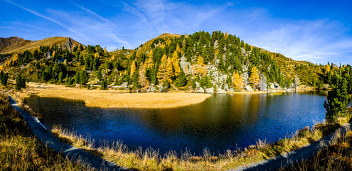 Wall Mural - famous windeben lake at the nockmountains in austria