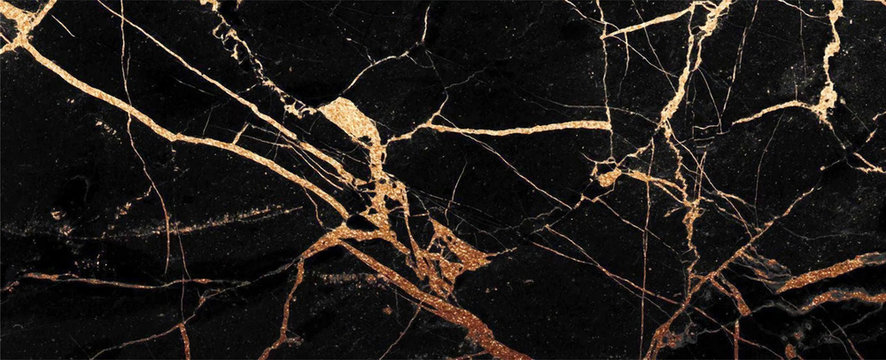 black and gold cracked Marble texture frame background