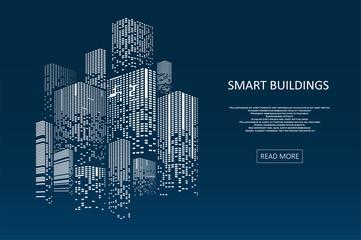 Obraz Smart building concept design - fototapety do salonu