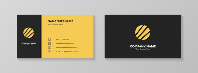 Modern business card design. Vector