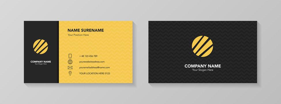 Modern business card design. Vector