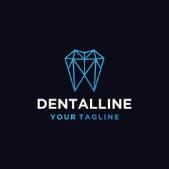 dental geometric vector graphic logo