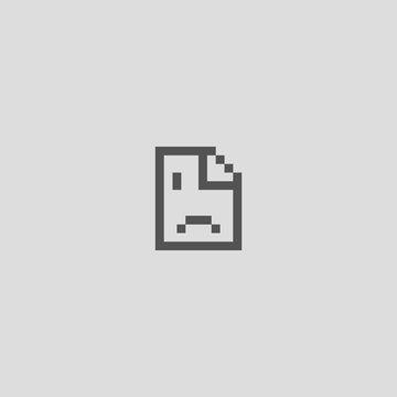 Error 500 page, empty page symbol, crash banner, sorry failure graphic message, vector illustration