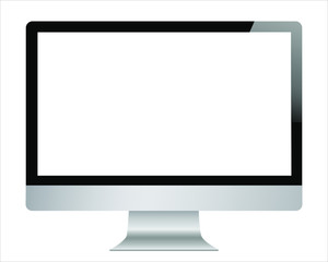 I mac screen copy. Isolated / transparent computer monitor.