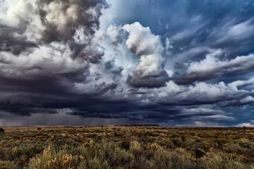 Fototapeta Storm Clouds Over Field