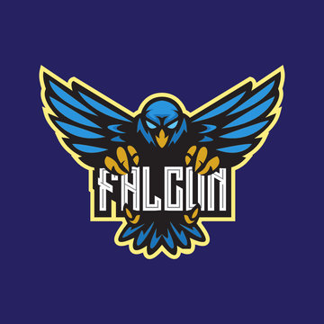 Vulture Eagle Owl Phoenix Falcon Cardinal Bird esport mascot emblem logo design vector template