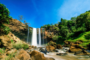 Canvas Prints Forest river Phu Cuong waterfall