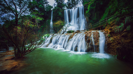 Canvas Prints Forest river Dai Yem Waterfall