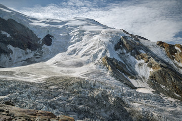 Wall Mural - View on Trift glacier from Hohsaas close to Saas-Grund in Switzerland