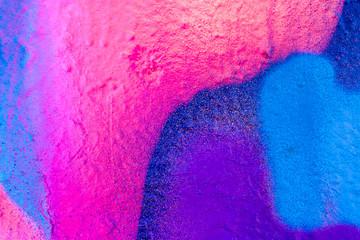 Beautiful bright colorful street art graffiti background. Abstract creative spray drawing fashion...