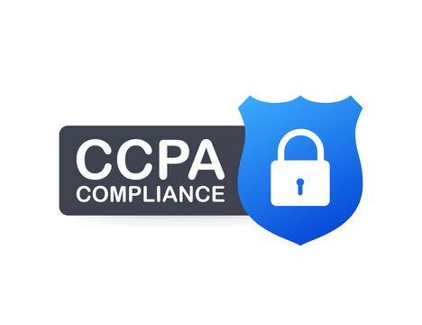 Ccpa, great design for any purposes. Security vector icon. Website information. Internet security. Data protection.