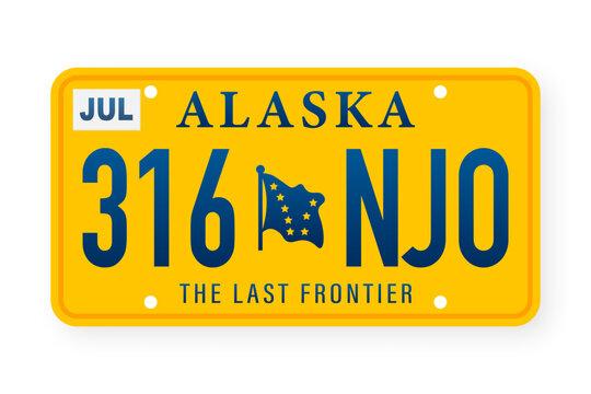 American alaska number. Retro style. Classic retro symbol. Vector template.