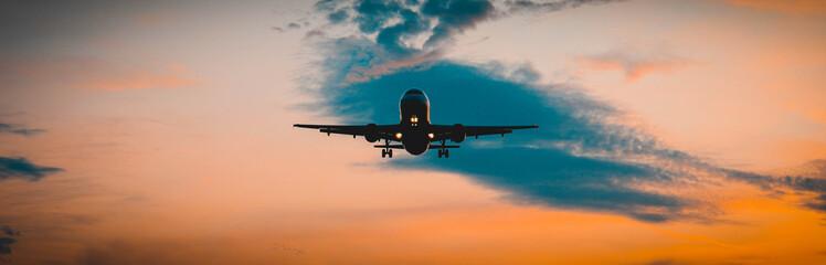 podejście do lądowania Fotobehang