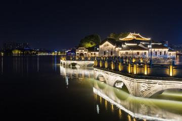 Fotobehang - jiujiang night scene
