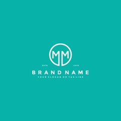 letter MM logo design vector