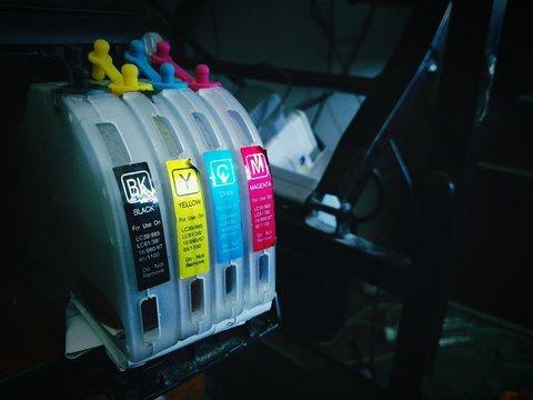 Close-up Of Cartridge Inks