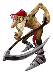 Poster Kinderkamer Irish evil goblin called Red Cap