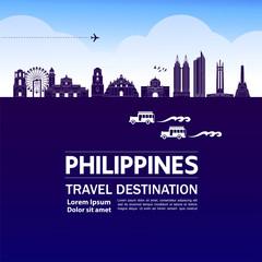 Wall Mural - Philippines travel destination grand vector illustration.