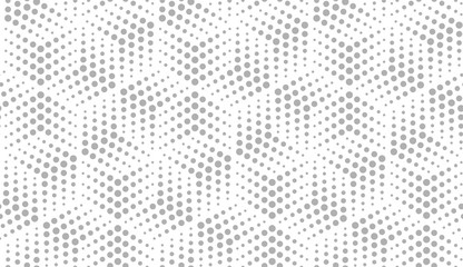 Abstract geometric pattern with points. A seamless vector background. White and grey ornament. Graphic modern pattern. Simple lattice graphic design