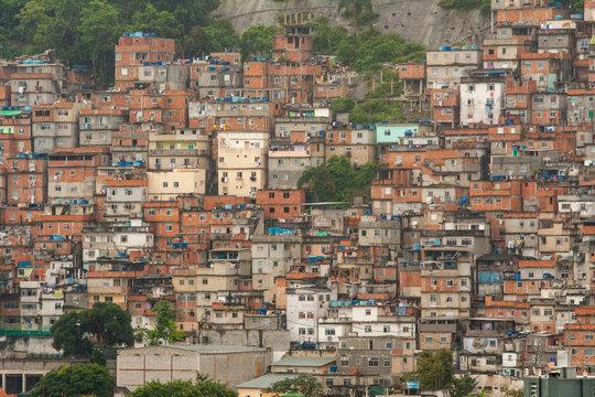 view of a favela in Rio de Janeiro Brazil