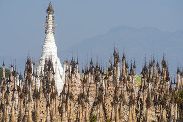 Pagodas at Kakku in Myanmar