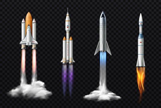 Realistic Rockets Transparent Set